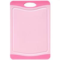 Доска разделочная Atlantis Microban 29х20см, цвет: розовый F-S-P54 009312Кухонная доска от Atlantis прямоугольной формы с контрастными темно-розовыми вставками, выполненная из пластика, обладает целым рядом преимуществ, а именно: удобная ручка; не скользит по поверхности стола; можно использовать обе стороны доски; непористая поверхность; можно мыть в посудомоечной машине; не впитывает запах продуктов; ножи не затупляются при использовании. Доска обработана специальным покрытием Microban. Покрытие Microban - самое надежное в мире средство для защиты от бактерий, грибков, плесени и запахов. Действует постоянно, даже после мытья, обеспечивая большую защиту доски. Антибактериальная защитаработает на протяжении всего срока службы разделочной доски. Характеристики: Артикул: F-M-P. Страна:Китай. Размер: 29 см х 20 см х 1 см. Материал: пластик.