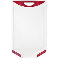 Доска разделочная Atlantis Microban 33х20см, цвет: красный белый V-C-20FS-91909Кухонная доска от Atlantis с красными вставками, выполненная из пластика, обладает целым рядом преимуществ, а именно: удобная ручка; не скользит по поверхности стола; можно использовать обе стороны доски; непористая поверхность; можно мыть в посудомоечной машине; не впитывает запах продуктов; ножи не затупляются при использовании. Доска обработана специальным покрытием Microban. Покрытие Microban - самое надежное в мире средство для защиты от бактерий, грибков, плесени и запахов. Действует постоянно, даже после мытья, обеспечивая большую защиту доски. Антибактериальная защитаработает на протяжении всего срока службы разделочной доски. Характеристики: Артикул: V-C-20. Страна:Китай. Размер: 33 см х 20 см х 1 см. Материал: пластик.