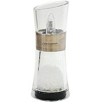 Мельница для солиVT-1520(SR)Мельница для соли изготовлена из нержавеющей стали и пластика. Мельница обладает большой прочностью и высокой плотностью, легко моется и обладает водоотталкивающими свойствами. Она легка в использовании, стоит только покрутить верхнюю часть мельницы, и вы с легкостью сможете добавить соль по своему вкусу в любое блюдо. Благодаря современному дизайну и компактному размеру мельница органично впишется в интерьер любой кухни и не займет много места.Мельница уже содержит внутри соль! Характеристики: Страна: Великобритания. Материал: нержавеющая сталь, пластик. Размер мельницы: 15 см х 6,5 см х 6,5 см. Артикул: Н577720.