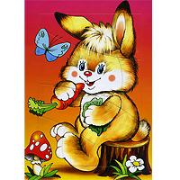 Мозаика Зайчонок-огородник разноцветная мозаика зайчонок 2788