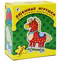 """Развивающая игра """"Любимые игрушки"""" прекрасно подойдет для первого знакомства ребенка с мозаикой. Интересная и полезная - она формирует навык соединения деталей, тренирует наблюдательность, развивает мелкую моторику рук и наглядно-образное мышление. С помощью данной игры ваш малыш сможет собрать изображения восьми разных игрушек."""
