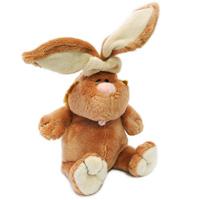 Мягкий и нежный на ощупь кролик с длинными ушками порадует, как ребенка, так и взрослого. Его очаровательный животик, розовый носик и язычок непременно вызовут улыбку каждого. Игрушка изготовлена из нетоксичных, не вызывающих аллергию материалов, эта игрушка абсолютно безопасна и удивительно приятна на ощупь, а специальные гранулы, используемые при набивке, способствуют развитию мелкой моторики рук малыша. Благодаря синтепоновой набивке игрушка как будто воздушная.