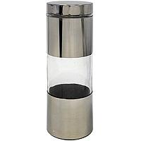 Банка для продуктов Amadeus 14ZB-401221395560Банка поможет Вам сохранить продукты со своим уникальным ароматом. Банка изготовлена из стекла и нержавеющей стали. Крышка герметично закрывает банку.Характеристики: Материал:нержавеющая сталь, стекло. Размер банки: 10 см х 10 см х 31 см. Производитель: Германия. Артикул: 14ZB-4012.