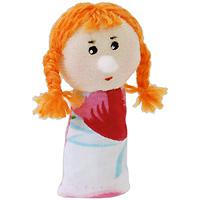 """Кукла пальчиковая """"Внучка"""", выполненная в ярких и насыщенных тонах, станет великолепным дополнением к вашему пальчиковому театру. Играть и ставить спектакли с пальчиковыми куклами необыкновенно интересно. Управлять такой куклой сможет даже ребенок. Играя, малыш разовьет мелкую моторику рук, а сочиняя сценарии - воображение."""