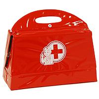Докторский чемоданчик включает в себя набор всех необходимых аксессуаров для маленького врача, которые создадут увлекательную атмосферу игры. В комплект входит: - инструмент для осмотра ушей и носа; - шприц; - градусник; - молоточек невропатолога; - прибор для измерения давления с чехольчиком; - пинцет; - бутылочка для таблеток, - коробочка для таблеток; - стетоскоп; - блокнот с листами для рецептов; - табличка для проверки зрения; - табличка учета состояния больного. С этим замечательным набором ребенок сможет почувствовать себя квалифицированным специалистом. Теперь все игрушки будут совершенно здоровы!