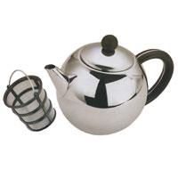 Чайник заварочный Vitesse Carola, 1 л94672Заварочный чайник Carola, выполненный из высококачественной нержавеющей стали 18/10 с зеркальной полировкой, предоставит вам все необходимые возможности для успешного заваривания чая. Чай в таком чайнике дольше остается горячим, а полезные и ароматические вещества полностью сохраняются в напитке. Чайник имеет вынимающийся фильтр-ситечко с ручкой, что делает его чрезвычайно удобным в использовании.Эстетичный и функциональный, с эксклюзивным дизайном, чайник будет оригинально смотреться в любом интерьере. Чайник пригоден для мытья в посудомоечной машине.Высота чайника (без учета крышки): 11,5 см.Диаметр основания чайника: 6,5 см.
