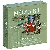 Николаус Арнонкур,Эдита Груберова,Шарлотта Марджионо,Conсentus Musicus Wien,Томас Мозер,Уве Хейлманн,Моника Бачелли Mozart. 250th Anniversary Edition: Operas 2 (8 CD)