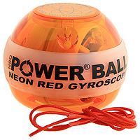 Powerball Neon Amber. Кистевой тренажер, без счетчика тренажер кистевой nsd power powerball neon цвет оранжевый