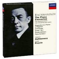 Содержание:         CD 1:                Piano Concerto No. 1 In F Sharp Minor, Op. 1        01. Vivace        02. Andante        03. Allegro Vivace                Piano Concerto No. 2 In С Minor, Op. 18        01. Moderato        02. Adagio Sostenuto        03. Allegro Scherzando                CD 2:                 Piano Concerto No. 3 In D Minor, Op. 30        01. Allegro Ma Non Tanto        02. Intermezzo: Adagio        03. Finale (Alia Breve)                Piano Concerto No. 4 In G Minor, Op. 40        04. Allegro Vivace (Alia Breve)        05. Largo        06. Allegro Vivace                CD 3:                 01. Rhapsody On A Theme Of Paganini, Op. 43                Piano Sonata No. 2 In В Flat Minor, Op. 36        02. Allegro Agitato        03. Non Allegro        04. Allegro Molto                8 Etudes-Tableaux, Op. 33        05. No.1 In F Minor        06. No. 2 In С Major        07. No. 3 In С Minor        08. No. 4 In D Minor        09. No. 5 In E Flat Minor        10. No. 6 In E Flat Major        11. No. 7 In G Minor        12. No. 8 In С Sharp Minor                13. Prelude In С Sharp Minor, Op. 3 No. 2                CD 4:                 10. Preludes, Op. 23        01. No.1 In F Sharp Minor        02. No. 2 In В Flat Major        03. No. 3 In D Minor        04. No.4 In D Major        05. No. 5 In G Minor        06. No. 6 In E Flat Major        07. No. 7 In С Minor        08. No. 8 In A Flat Major        09. No. 9 In E Flat Minor        10. No. 10 In G Flat Major                13 Preludes, Op. 32        11. No. 1 In С Major        12. No. 2 In В Flat Minor        13. No. 3 In E Major        14. No. 4 In E Minor        15. No. 5 In G Major        16. No. 6 In F Minor        17. No. 7 In F Major        18. No. 8 In A Minor        19. No. 9 In A Major        20. No. 10 In В Minor        21. No. 11 In В Major        22. No. 12 In G Sharp Minor        23. No. 13 In D Flat Major                CD 5:                 Suite No. 1 For 2 Pianos, Op. 5        01. Barcarolle: Allegretto        02. La Nuit, I'amour: Adagio Sostenuto        03. Les Larmes: Largo Di Molto        04. Paques: Allegro Maestoso                Suite No. 2 For 2 Pianos, Op. 17        05. Introduction: Alia Marcia        06. Valse: Presto        07. Romance: Andantino        08. Tarantelle                Russian Rhapsody For 2 Pianos In E Minor        09. Moderate - Vivace - Andante                10. Variations On A Theme By Corelli, Op. 42        Theme: Andante        I Poco Piu Mosso        II Listesso Tempo        III Tempo Di Menuetto        IV Andante        V Allegro Ma Non Tanto        VI Listesso Tempo        VII Vivace        VIII Adagio Misterioso        IX Un Poco Piu Mosso        X Allegro Scherzando        XI Allegro Vivace        XII L'istesso Tempo        XIII Agitato Intermezzo        XIV Andante (Come Prima)        XV L'istesso Tempo        XVI Allegro Vivace        XVII Meno Mosso        XVIII Allegro Con Brio        XIX Piu Mosso: Agitato        XX Piu Mosso Coda: Andante                CD 6:                 9 Etudes-Tableaux, Op. 39        01. No. 1 In С Minor        02. No. 2 In A Minor        03. No. 3 In F Sharp Minor        04. No. 4 In В Minor        05. No. 5 In E Flat Minor        06. No. 6 In A Minor        07. No. 7in C Minor        08. No. 8 In D Minor        09. No. 9 In D Major                Symphonic Dances For 2 Pianos, Op. 45        10. Non Allegro - Lento - Tempo I        11. Andante Con Moto (Tempo Di Valse)        12. Lento Assai - Allegro Vivace