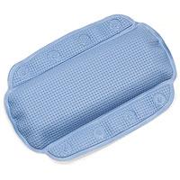 Подушка для ванной Alaska, цвет: голубой68/5/3Подушка для ванной Alaska изготовлена из высокопрочного вспененного полихлорвинила, крепится при помощи присосок. Такая подушка будет незаменима для тех, кто любит понежиться в ванной, а также станет приятным и оригинальным подарком. Подушку можно стирать в стиральной машине при температуре 30 градусов. Характеристики: Материал: полихлорвинил. Размер подушки: 23 см х 32 см. Цвет: голубой. Артикул: 1070525. Производитель: Швейцария.