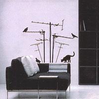 Стикер Paristic Лес антенн, 70 х 70 см54 009303Добавьте оригинальность вашему интерьеру с помощью необычного стикера Лес антенн. Изображение на стикере имитирует силуэт кота, который охотится на птиц, сидящих на антеннах.Необыкновенный всплеск эмоций в дизайнерском решении создаст утонченную и изысканную атмосферу не только спальни, гостиной или детской комнаты, но и даже офиса. Стикервыполнен из матового винила - тонкого эластичного материала, который хорошо прилегает к любым гладким и чистым поверхностям, легко моется и держится до семи лет, не оставляя следов. В комплекте прилагается ракель, с помощью которого вы без труда наклеите стикер на выбранную поверхность. Сегодня виниловые наклейки пользуются большой популярностью среди декораторов по всему миру, а на российском рынке товаров для декорирования интерьеров - являются новинкой.Paristic - это стикеры высокого качества. Художественно выполненные стикеры, создающие эффект обмана зрения, дают необычную возможность использовать в своем интерьере элементы городского пейзажа. Продукция представлена широким ассортиментом - в зависимости от формы выбранного рисунка и от Ваших предпочтений стикеры могут иметь разный размер и разный цвет (12 вариантов помимо классического черного и белого). В коллекции Paristic-авторские работы от урбанистических зарисовок и узнаваемых парижских мотивов до природных и графических объектов. Идеи французских дизайнеров украсят любой интерьер: Paristic -это простой и оригинальный способ создать уникальную атмосферу как в современной гостиной и детской комнате, так и в офисе. В настоящее время производство стикеров Paristic ведется в России при строгом соблюдении качества продукции и по оригинальному французскому дизайну. Характеристики:Размер стикера: 70 см х 70 см. Размер упаковки: 11 см х 6 см х 79 см. Комплектация: виниловый стикер; ракель; инструкция. Производитель: Франция.