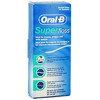 Зубная нить Oral-B Super Floss, 50 нитей84850536_золушка/голубой, розовыйЗубная нить Oral-B Super Floss подходит для мостовидных протезов, брекет-систем, имплантантов и широких межзубных промежутков. Нить состоит из трех частей переходящих одна в другую:Первая часть - твердое волокно для введения под и между конструкциями; Вторая часть - широкое губчатое волокно для удаления налета и остатков пищи; Третья часть - обычная нить для чистки межзубных промежутков и вдоль линии десен. Характеристики: Количество нитей: 50 шт. Производитель: Ирландия. Артикул: 056Р9. Размер коробки: 5 см х 12 см х 2,5 см. Товар сертифицирован.