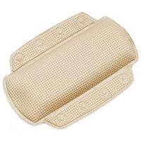 Подушка для ванной Alaska, цвет: шампань68/5/4Подушка для ванной Alaska изготовлена из высокопрочного вспененного полихлорвинила, крепится при помощи присосок. Такая подушка будет незаменима для тех, кто любит понежиться в ванной, а также станет приятным и оригинальным подарком. Подушку можно стирать в стиральной машине при температуре 30 градусов. Характеристики: Материал: полихлорвинил. Размер подушки: 23 см х 32 см. Цвет: шампань. Артикул: 1042978. Производитель: Швейцария.