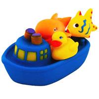 """Набор игрушек для ванной """"Веселое путешествие"""", цвет: синий, Курносики"""