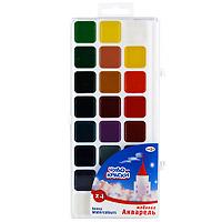 """Акварельные медовые полусухие краски """"Чудо-краски"""" идеально подойдут для детского и художественного изобразительного искусства. Яркие, насыщенные цвета красок отлично смешиваются между собой. Кисточка в комплект не входит."""