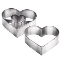 Набор формочек для выпечки Сердце, 2 шт. 631190631190Формочки Сердце идеально подойдут для вырезания теста при выпечке печенья. Формочки предназначены для приготовления печенья с начинкой. Изготовлены из прочного металла.Характеристики: Материал: металл. Размер: 5 см х 4,5 см х 1,5 см. Комплектация: 2 шт. Производитель: Чехия. Артикул: 631190.