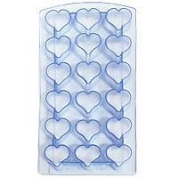 Форма для льда Сердце, цвет: голубой18 ячеекVT-1520(SR)Форма для льда Сердце выполнена из силикона. На одном листе расположено 18 формочек в виде сердец. Благодаря тому, что формочки изготовлены из силикона, готовый лед вынимать легко и просто. Чтобы достать льдинки, эту форму не нужно держать под теплой водой или использовать нож. Теперь на смену традиционным квадратным пришли новые оригинальные формы для приготовления фигурного льда, которыми можно не только охладить, но и украсить любой напиток. В формочки при заморозке воды можно помещать ягодки, такие льдинки не только оживят коктейль, но и добавят радостного настроения гостям на празднике!Размер общей формы: 23 см х 11,5 см х 2,5 см.Размер одной формочки: 3 см х 3 см.