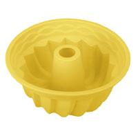 Форма для выпечки кекса Tescoma Delicia Silicone, круглая, цвет: желтый, диаметр 24 см629224Круглая форма Tescoma Delicia Silicone будет отличным выбором для всех любителей выпечки. Благодаря тому, что форма изготовлена из силикона, готовую выпечку вынимать легко и просто. Стенки формы оснащены рельефной поверхностью. Форма прекрасно подходит для выпечки кексов. С такой формой вы всегда сможете порадовать своих близких оригинальной выпечкой. Материал изделия устойчив к фруктовым кислотам, может быть использован в духовках, микроволновых печах, холодильниках и морозильных камерах (выдерживает температуру от -40°C до 230°C). Антипригарные свойства материала позволяют готовить без использования масла.Можно мыть и сушить в посудомоечной машине. При работе с формой используйте кухонный инструмент из силикона - кисти, лопатки, скребки. Не ставьте форму на электрическую конфорку. Не разрезайте выпечку прямо в форме.