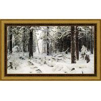 Арт-постер в багете Зима (И.И. Шишкин), 24 x 40 смМС-16Художественная репродукция картины И.И. Шишкина Зима.Изображение нанесено на чрезвычайно плотную основу (это не бумага и не картон) и обрамлено в багет. Технология изготовления арт-постеров подразумевает обязательную художественную ламинацию каждого изображения, что придает картине дополнительную ценность, а также защищает поверхность от загрязнения, повреждений (в том числе попыток помять, исцарапать изображение), влаги и ультрафиолетовых лучей. Такие арт-постеры совершенно спокойно перенесут не одну зиму в дачном или загородном доме.Ламинирование может значительно улучшить качество изображения. Использование пленок дает различную фактуру лицевой поверхности изображения (глянцевую, матовую, холщевую, ситцевую, льняную и другие). Например, при использовании глянцевых пленок изображение проявляется - краски становятся более контрастными и сочными. Технология художественного ламинирования максимально приближает изображение к натуральной картине (холст, масло), акварели.Отличить арт-постер, изготовленный по такой технологии, от копии, нарисованной художником можно лишь при детальном пристальном рассмотрении. Рассматривая арт-постер с расстояния свыше 1 метра - вы не заметите никаких отличий. А компьютерная точность воспроизведения, исключающая неточность руки копировальщика, создаст в Вашем доме ощущение присутствия настоящего шедевра, не подвластного времени. Именно поэтому арт-постеры являются признанным стандартом изготовления копий художественных произведений.При обрамлении изображений, поверхность которых защищена художественной ламинацией, стекло не требуется. А это означает отсутствие раздражающих бликов, возможности случайно разбить стекло, уменьшается вес арт-постера. Характеристики: Материал: бумага, пластик, ДВП.Размер в багете: 50 см х 34,5 см.Размер постера: 39 см х 23,5 см.Производитель: Россия.Артикул: OZ127-504011.