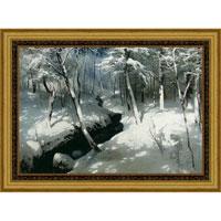 Ручей в лесу (А. Шильдер), со светлой рамкой, 50 x 40 см25051 7_желтыйХудожественная репродукция картины А. Шильдера Ручей в лесу. Размер постера:50 см x 40 см.Артикул:29x40 OZ126-504011. Изображение нанесено на чрезвычайно плотную основу (это не бумага и не картон) и обрамлено в багет.Технология изготовления арт-постеров подразумевает обязательную художественную ламинацию каждого изображения, чтопридает картине дополнительную ценность, а также защищает поверхность от загрязнения, повреждений (в том числе попыток помять, исцарапать изображение), влаги и ультрафиолетовых лучей. Так, например, наши арт-постеры совершенно спокойно перенесут не одну зиму в дачном или загородном доме.Ламинирование может значительно улучшить качество изображения. Использование пленок дает различную фактуру лицевой поверхности изображения (глянцевую, матовую, холщевую, ситцевую, льняную и другие). Например, при использовании глянцевых пленок изображение проявляется - краски становятся более контрастными исочными. Технология художественного ламинирования максимально приближает изображение к натуральной картине (холст, масло), акварели.Отличить арт-постер, изготовленный по такой технологии, от копии, нарисованной художником можно лишь при детальном пристальном рассмотрении. Рассматривая арт-постер с расстояния свыше 1 метра - вы не заметите никаких отличий. А компьютерная точность воспроизведения, исключающая неточность руки копировальщика, создаст в Вашем доме ощущение присутствия настоящего шедевра, не подвластного времени. Именно поэтому арт-постеры являютсяпризнанным стандартом изготовления копий художественных произведений.При обрамлении изображений, поверхность которых защищена художественной ламинацией, стекло не требуется. А это означает отсутствие раздражающих бликов, возможности случайно разбить стекло, уменьшается вес Арт-постера.