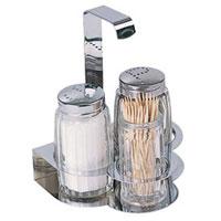 Набор Tescoma для соли, перца и зубочисток. 65402225868Набор Tescoma для соли и перца благодаря своим компактным размерам не займет много места на вашей кухне. Емкости умещаются на подставке и надежно удерживаются на ней. К подставке прикреплена металлическая ручка. В комплект также входит емкость для зубочисток. Очень удобно, когда во время приготовления пищи соль и перец под рукой! Набор Tescoma для соли, перца и зубочисток станет отличным подарком каждой хозяйке. Характеристики:Материал: стекло, сталь. Высота емкости для соли и перца: 7 см. Высота емкости для зубочисток: 6 см. Диаметр емкости для соли и перца: 3,7 см. Диаметр емкости для зубочисток: 3 см. Размер упаковки: 10,5 см х 11 см х 8 см. Производитель: Чехия.Артикул: 654022.Уважаемые клиенты!Обращаем ваше внимание: cоль, перец и зубочистки в набор не входят.