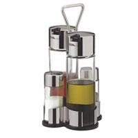 Набор Tescoma Club для масла, уксуса и специй. 650354650354Набор Tescoma для масла, уксуса и специй благодаря своим небольшим размерам не займет много места на вашей кухне. Емкости компактно умещаются на подставке и надежно удерживаются на ней. К подставке прикреплена стальная ручка. Емкости изготовлены из стекла, нержавеющей стали и прочной пластмассы. Очень удобно, когда во время приготовления пищи приправы под рукой! Набор Tescoma станет отличным подарком каждой хозяйке. Характеристики:Материал: стекло, сталь, пластмасса. Высота емкости для специй: 8,5 см. Диаметр емкости для специй: 3,5 см. Высота емкости для масла и уксуса: 15 см. Диаметр емкости для масла и уксуса: 5 см. Размер подставки: 12 см х 11 см. Размер упаковки: 10 см х 11 см х 21 см. Артикул: 650354. Производитель: Чехия. Внимание!Уважаемые клиенты, обращаем ваше внимание на тот факт, что емкости поставляются без масла, уксуса и специй.