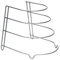 Подставка для сковород Canyon36.20.04/95Подставка для 4 сковород Canyon, выполненная из стали, идеально впишется в интерьер современной кухни. Подставка имеет 4 ножки, которые позволяют надежно установить ее на поверхности стола. Такая подставка идеально впишется в интерьер Вашей кухни, а благодаря своему размеру сэкономит место на Вашем столе. Характеристики: Материал:сталь, окрашенная краской, содержащей эпоксидный порошок. Внутренний диаметр ярусов: 22 см; 20 см; 17,5 см; 15 см. Высота между ярусами: 7,5 см; 6,5 см; 5,5 см. Размер подставки (ГхШхВ): 27 см х 23 см х 24 см. Гарантия производителя: 3 года. Производитель: Италия. Артикул:36.20.04/95 .