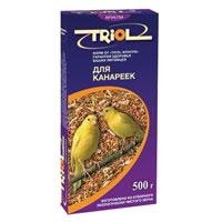 Корм для канареек Triol, 500 г0120710Смесь из зерна - это основа корма для канареек. Вместе с зерном они получают огромную долю питательных веществ.Корм специально составлен из самых вкусных и необходимых компонентов, он содержит много волокон, что положительно влияет на пищеварение вашего питомца. Правильно сбалансированный корм поможет вам вырастить и содержать здоровых, веселых и отлично поющих птичек. Состав и калорийность смеси соответствуют меню естественной среды обитания. Состав:овес, просо белое, просо красное, семена конопли, канареечное семя, рапс, лен, семена подсолнечника, луговые травы, йод в легко усвояемой форме, витамины А, В, В2, В6, D, PP.Уважаемые клиенты! Обращаем ваше внимание на возможные изменения в дизайне упаковки. Качественные характеристики товара остаются неизменными. Поставка осуществляется в зависимости от наличия на складе.