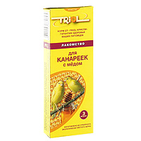 Лакомство для канареек Triol, с медом, 3 шт12234070Медовое лакомство Triolспециально составлено из самых вкусных и необходимых компонентов, содержит много волокон, что положительно влияет на пищеварение и здоровье вашего питомца. Лакомство порадует канарейку и разнообразит ее ежедневный рацион.Состав: просо белое, просо красное, семя конопли, канареечное семя, рапс, лен, мед, луговые травы, йод в легко усвояемой форме, витамины А, В, D, PP.Товар сертифицирован.