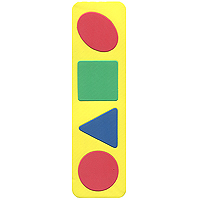 Бомик Пазл для малышей Простые геометрические фигуры пазлы бомик мозаика локомотив