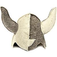 Шапка для бани и сауны ВикингМА9004Шапка для бани и сауны, выполненная в виде шлема средневекового викинга с рогами - это незаменимый аксессуар для любителей попариться в русской бане и для тех, кто предпочитает сухой жар финской бани. Необычный дизайн изделия поможет сделать ваш отдых более приятным и разнообразным.Такая шапка станет отличным подарком для любителей отдыха в бане или сауне. Характеристики: Материал: шерсть. Диаметр основания шапки: 31 см. Высота шапки: 24,5 см. Производитель: Россия. Артикул: Б417.