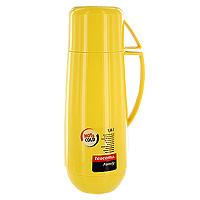 Термос Tescoma Family, с кружкой, цвет: желтый, 1 лVT-1520(SR)Термос Tescoma Family предназначен для хранения и переноски теплых и холодных напитков. Термос изготовлен из прочного пластика и снабжен стеклянной изоляционной колбой. Термос имеет удобную ручку и завинчивающуюся крышку, которая может выполнять функцию кружки.Высота термоса (с учетом крышки): 32 см.Диаметр термоса (по верхнему краю): 5,5 см.Диаметр кружки: 9,5 см.Высота кружки: 7,5 см.