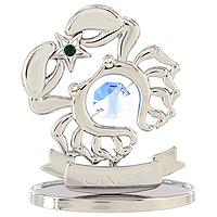 Сувенир Знаки зодиака: Рак, цвет: серебристый, 7,5 см695294Декоративное изделие, выполненное в виде знака зодиака Рак, с голубым кристаллом Swarovski посередине, а также с зеленым и двумя бесцветными кристаллами, изготовлено из высококачественной стали. Оригинальный сувенир будет отличным подарком для ваших друзей и коллег.Более 30 лет компания Crystocraft создает качественные, красивые и изящные сувениры, декорированные различными кристаллами Swarovski. Характеристики:Материал:сталь, кристаллы Swarovski. Высота:7,5 см. Размер упаковки:9,5 см х 11 см х 4,5 см. Артикул:U0260-001-CBLB. Производитель:Китай.