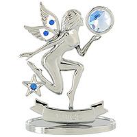 Сувенир Знаки зодиака: Дева, цвет: серебристый, 8,5 см74-0120Декоративное изделие, выполненное в виде знака зодиака Дева, оформленное голубыми и синими кристаллами Swarovski, изготовлено из высококачественной стали. Оригинальный сувенир будет отличным подарком для ваших друзей и коллег.Более 30 лет компания Crystocraft создает качественные, красивые и изящные сувениры, декорированные различными кристаллами Swarovski.Характеристики:Материал:сталь, кристаллы Swarovski. Высота:8,5 см. Размер упаковки:9,5 см х 11 см х 4,5 см. Артикул:U0262-001-CBLB. Производитель:Китай.