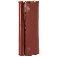 Ключница Befler, цвет: светло-коричневый. KL.11-1Браслет с подвескамиКомпактная ключница Befler - стильная вещь для хранения ключей. Ключница, закрывающаяся на две кнопки, выполнена из натуральной кожи высокого качества. Внутри располагаются 4 крепления для ключей.