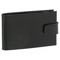 Визитница Befler, на 20 карточек, цвет: черный. V.31.-1.blackA52_108Визитница Befler рассчитана на 20 карточек. Файлы из мягкого прозрачного пластика под мягкой обложкой из натуральной кожи позволят бережно хранить визитки и кредитные карты в одном месте. Визитница закрывается на кнопку. Характеристики: Размер визитницы: 11 см х 7 см х 1 см.Размер файла для карточки: 6 см х 9,5 см.Материал: натуральная кожа, пластик.Размер упаковки: 7,5 см х 14 см х 2 см. Производитель:Россия. Артикул:V.31.-1.black.