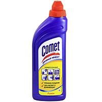 Гель чистящий Comet, лимон, 500 мл68/5/4Чистящий гель Comet предназначен для глубокого очищения поверхностей. Эффективно удаляет повседневные загрязнения и обычный жир во всем доме, а также дезинфицирует поверхности благодаря формуле с хлоринолом. Характеристики: Объем: 500 мл.