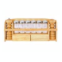Набор для специй Oriental way 9 предметов S400625006Набор для специй Oriental way состоит из навесной полки и шести емкостей для специй, мельницы для перца и солонки. Навесная полка для специй, мельница и солонка изготовлены из высококачественной древесины гевеи, а емкости для специй из стекла. Полка сэкономит место на вашей кухне. Современный дизайн делает набор не только практичным, но и стильным домашним аксессуаром. Он пригодится для хранения различных специй, которые всегда будут под рукой.Особенности набора для специй Oriental way: высокое качество шлифовки поверхности изделий двухслойное покрытие пищевым лаком, безопасным для здоровья человека степень влажность 8-10%, не трескается и не рассыхается высокая плотность структуры древесины устойчива к механическим воздействиям. Характеристики:Материал: дерево, стекло, пластик. Диаметр емкости для специй: 4 см. Высота емкости для специй: 10 см. Высота мельницы для перца: 17,5 см. Высота солонки: 15 см. Размер полки: 42 см х 16 см х 6 см. Размеры упаковки: 42,5 см х 17,5 см х 8 см. Производитель: Китай. Артикул: S4006. Торговая марка Oriental way известна на рынке с 1996 года. Эта марка объединяет товары для кухни, изготовленные из дерева и других материалов. Все товары марки Oriental way являются безопасными для здоровья, экологичными, прочными и долговечными в использовании.