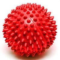 Мяч массажный Larsen, цвет: красный, 7 см. SM-13B327Игольчатая поверхность благотворно воздействует на нервные окончания и способствует улучшению кровообращения. Идеален для массажа и самомассажа детей и взрослых, для профилактики целлюлита. Подходит для занятий фитнесом и йогой.Характеристики: Диаметр мяча: 7 см. Цвет: красный. Материал: ПВХ. Производитель: Китай. Артикул: SM-1.