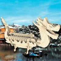"""Сборная деревянная модель """"Лодка Дракона"""" позволит Вам и Вашему ребенку собрать объемную деревянную конструкцию в виде лодки Дракона. Модель для сборки развивает мелкую моторику, ителлектуальные способности, воображение и конструктивное мышление, тренирует терпение и усидчивость."""