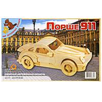 """Сборная деревянная модель """"Порше 911"""" позволит Вам и Вашему ребенку собрать объемную деревянную конструкцию в виде автомобиля Порше 911. Модель для сборки развивает мелкую моторику, ителлектуальные способности, воображение и конструктивное мышление, тренирует терпение и усидчивость."""