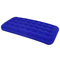 Кровать надувная Bestway Comfort Quest, цвет: синий, 188 см х 99 смс58890Надувная кровать Comfort Quest выполнена из прочного, испытанного винила с флокированным покрытием, которое предотвращает сползание постельных принадлежностей. Кровать быстро и легко надувается и сдувается благодаря завинчивающимся воздушным клапанам.Прочность кровати обеспечивает спиралеобразная конструкция.Эта необычайно удобная надувная кровать поможет Вам полноценно отдохнуть в помещении и на открытом воздухе. К кровати прилагается ремонтная заплата.Гарантия производителя: 30 дней. Характеристики:Размер: 188 см х 99 см х 22 см. Материал: винил, флок. Цвет: синий. Максимальная нагрузка: 227 кг. Размер упаковки: 29,5 см х 29 см х 9 см. Изготовитель: Китай.Артикул: 67001. Уважаемые клиенты!Обращаем ваше внимание на тот факт, что ремонтная заплата расположена на оборотной стороне инструкции по ее использованию.