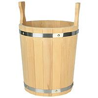 Запарник для бани, липа, 12 лPS0088Запарник объемом 12 л, в бане (сауне) предназначен для запаривания банных веников, для хранения воды, для разведения ароматических масел и настоек из трав, а также в быту по хозяйству. Характеристики: Высота (без ушек): 32 см. Диаметр по верху: 28 см. Материал: дерево (липа). Объем: 12 л. Производитель: Россия. Артикул: Б 741.