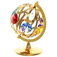 """Миниатюра """"Глобус"""", цвет: золотистый, 7 см, Crystocraft"""