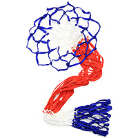 Сетка баскетбольная Start up, 2 шт120330_red/whiteСетка Start up выполнена из нейлона синего, красного и белого цвета. Такая сетка незаменима для игры в баскетбол на улице или в спортзале.Характеристики: Длина сетки: 46 см. Материал: нейлон. Производитель: Китай. Артикул: 10-018.