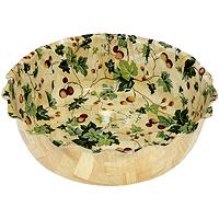Салатница Oriental way Ягоды 32см WH234WP21254 009312Оригинальная деревянная салатница Ягоды прекрасно подойдет для вашей кухни. Предназначена для красивой сервировки салатов. Салатница выполнена из полос расщепленного дерева и покрыта пищевым лаком. Изящный дизайн придется по вкусу и ценителям классики, и тем, кто предпочитает утонченность и изысканность. Характеристики:Материал: дерево. Диаметр: 32 см. Высота: 9,5 см.Производитель: Тайвань. Артикул: WH234WP212.