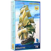 """Сборная модель """"Бригантина"""" привлечет внимание не только ребенка, но и взрослого и позволит своими руками создать уменьшенную копию великолепного корабля. Слово """"бригантина"""" происходит от """"brigand"""" - """"пират, разбойник"""", и, первоначально, в 16 веке, на Средиземном море так называли легкие пиратские суда. Позднее, когда пиратство распространилось в более бурные воды Атлантического океана, тип судна сменился, а название осталось прежним. В 17-18 веках бригантина несла прямые паруса на обеих мачтах, и равное хождение имели термины """"бригантина"""" и """"бриг"""" (как сокращение от первого). В 18 веке бригантины были введены в военных флотах как посыльные и разведывательные корабли. К середине 19 века бригантина окончательно сформировалась как тип парусника: это небольшой двухмачтовый парусный корабль с прямыми на передней мачте (фок-мачте) и косыми на второй мачте (грот-мачте) парусами, водоизмещением около 350 тонн. Бригантина стала отличаться от брига тем, что не несла прямого грота...."""
