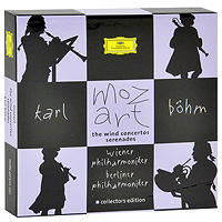 Карл Бем,Wiener Philharmoniker,Berliner Philharmoniker,Blaser Der Berliner Philharmoniker,Blaservereinigung Der Wiener Philharmoniker Karl Bohm. Mozart. The Wind Concertos Serenades (7 CD) major ii brown