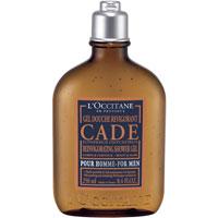 Шампунь для волос и тела LOccitane Cade, тонизирующий, 250 млAC-2233_серыйМягкая формула шампуня подарит волосам и телу свежесть и энергию на весь день. Питательное масло карите и комплексэфирных масел провансальского можжевельника, сандалового дерева, бессмертника и розмарина максимально очистят волосы и подарят дополнительное увлажнение.Характеристики: Объем: 250 мл. Артикул: 096963. Производитель: Франция. Товар сертифицирован.