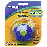 """Точилка """"Westcott"""" со встроенной антибактериальной защитой """"Microban"""" очень удобна и функциональна. Точилка включает в себя два отверстия для карандашей разного диаметра и ластик для удаления с бумаги надписей, сделанных чернографитными карандашами. Поворотный футляр полностью защищает ластик от грязи и пыли. Также точилка оснащена контейнером для сбора стружки. Microban предоставляет круглосуточную защиту, препятствую размножению бактерий: Эффективен против широкого спектра грамположительных и грамотрицательных бактерий и грибков, таких как сальмонелла, золотистый стафилококк и др., вызывающие заболевания, сопровождающиеся расстройством кишечника, грибковые заболевания и т.д. (всего около 100 микроорганизмов); Сохраняет свои свойства после мытья и в случае механического повреждения изделия; Антибактериальные свойства Microban не исчезают со временем и не снижают свою эффективность; Microban абсолютно безвреден для людей и..."""